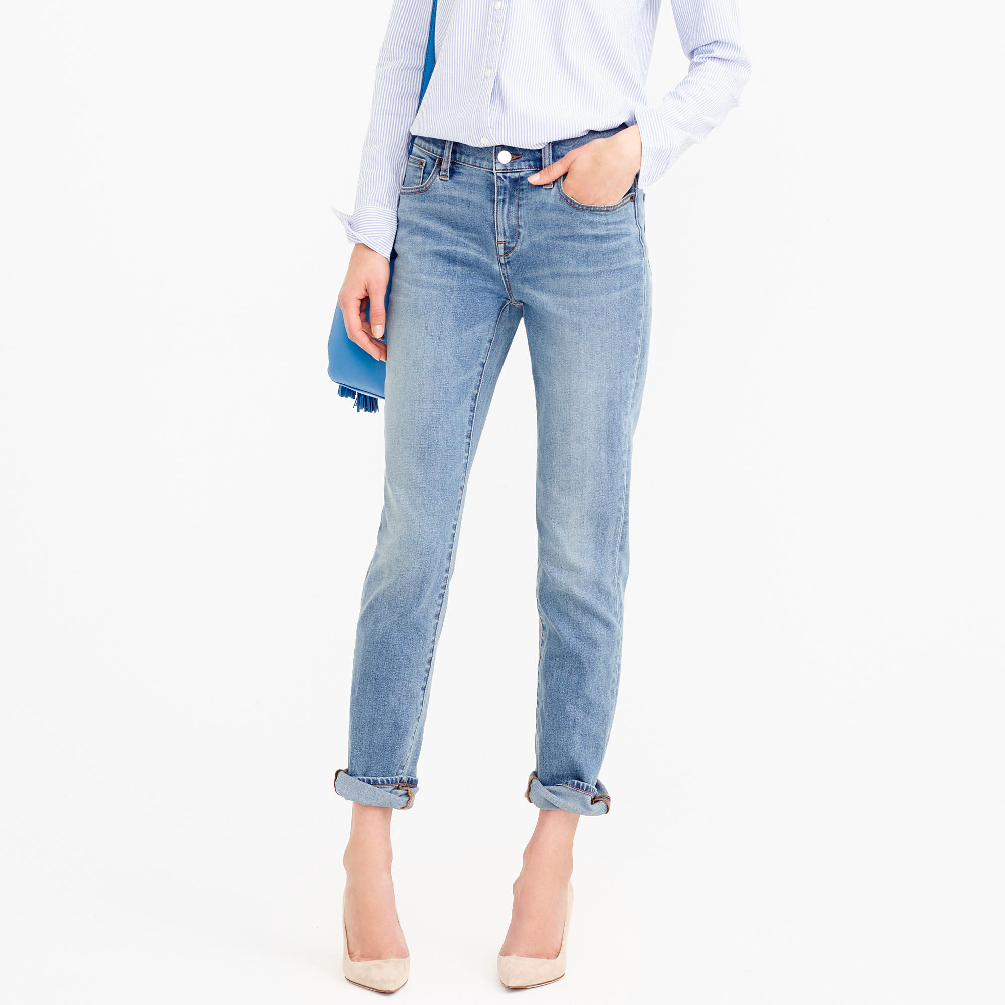 Slim broken-in boyfriend jean in Monterey wash : Women Boyfriend ...