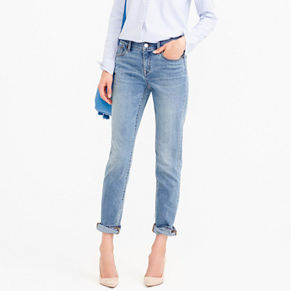 Petite slim broken-in boyfriend jean in Monterey wash