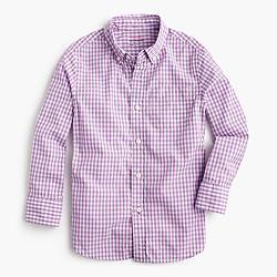 Kids' Secret Wash shirt in violet gingham