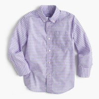 Kids' Secret Wash shirt in violet gingham