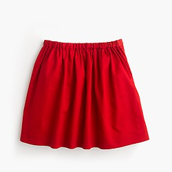 Girls' solid sateen skirt