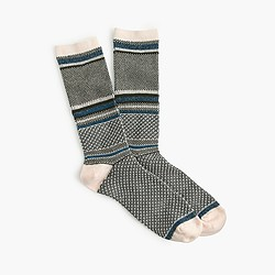 Patterned Lurex® trouser socks