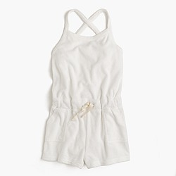 Girls' terry romper