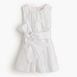 Girls' organdy dress with sash
