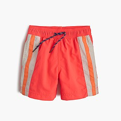 Boys' striped swim trunk