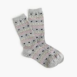Hearts trouser socks