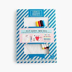 Yellow Owl Workshop™ Sweet Tote Bag stencil kit