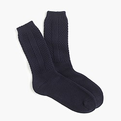 Textured solid trouser socks