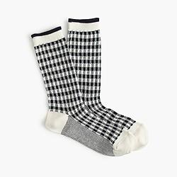 Check trouser socks
