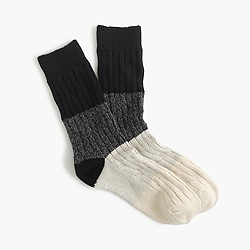 Colorblock ribbed socks