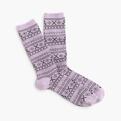 Fair Isle snowflake socks