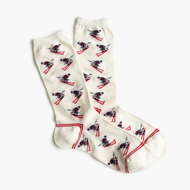 Skier trouser socks