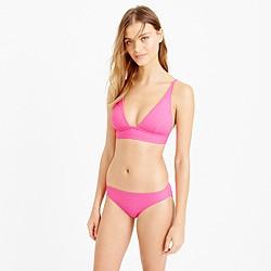 Plunge V-neck bikini top in Italian matte