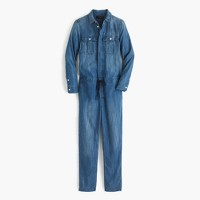 Indigo chambray jumpsuit