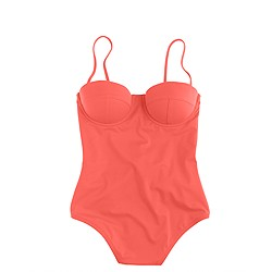 Neon underwire low-back one-piece swimsuit