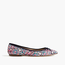 Gemma flats in glitter mosaic