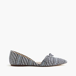 Sloan plaid d'Orsay flats with bow