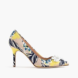Elsie embellished pumps in colorful palm