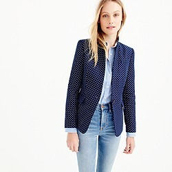 Tall polka-dot Regent blazer in linen