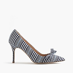Elsie plaid pumps with bow