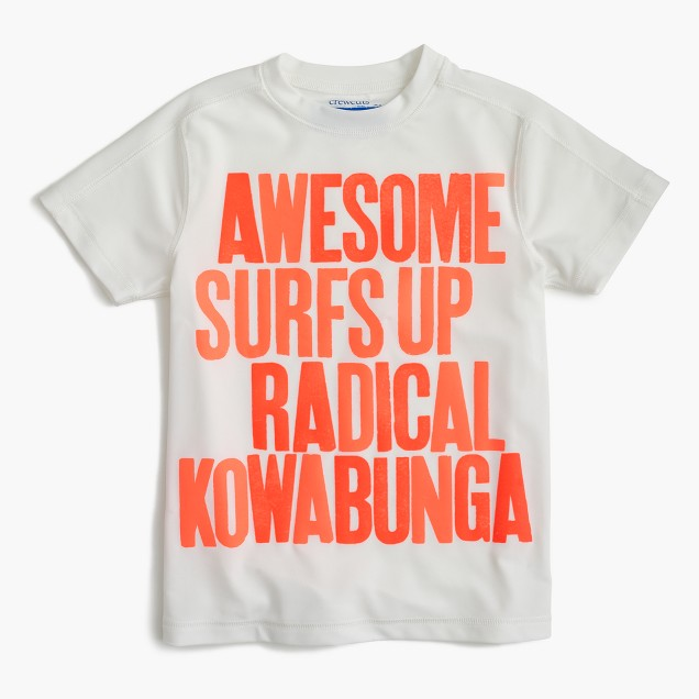 Boys' rash guard in kowabunga