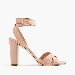 Leather cross-strap sandals