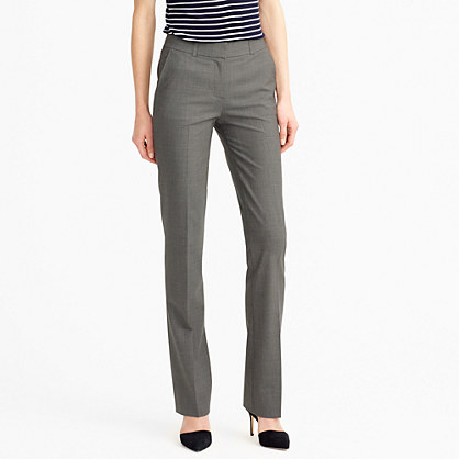 Tall lined Campbell trouser in Italian stretch wool