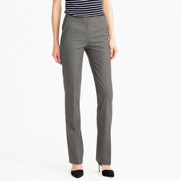Petite lined Campbell trouser in Italian stretch wool