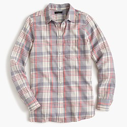 Boy shirt in caspian plaid