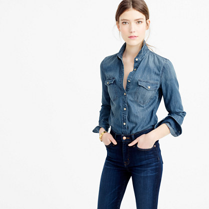 Tall Western chambray shirt