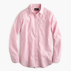 Boy shirt in striped cotton-Tencel® oxford