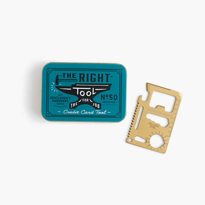 Gentlemen's Hardware® credit card tool