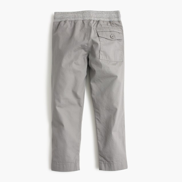 Boys' lightweight chino pull-on pants