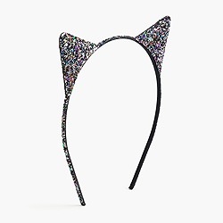 Girls' glitter cat ear headband