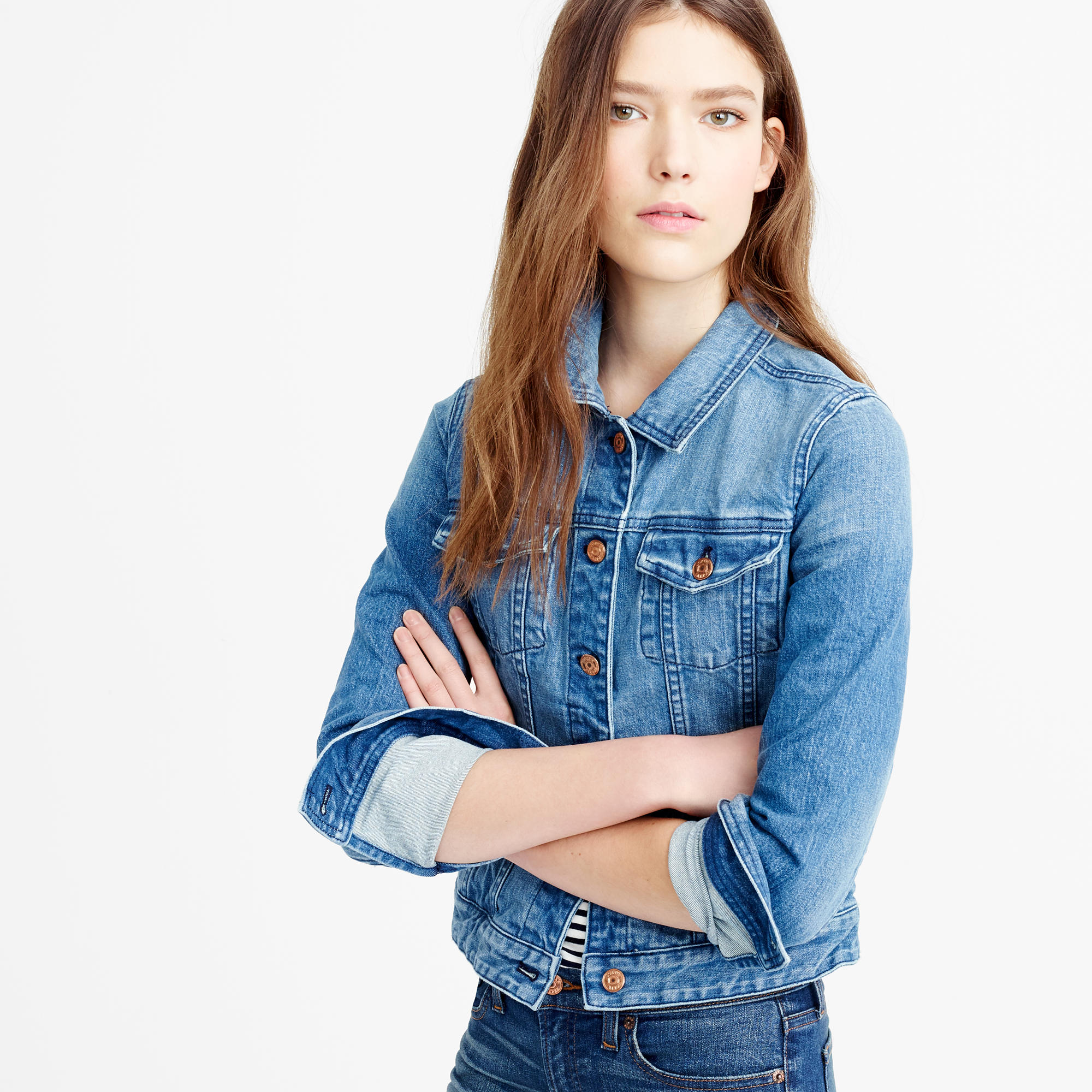Premium stretch denim jacket : | J.Crew
