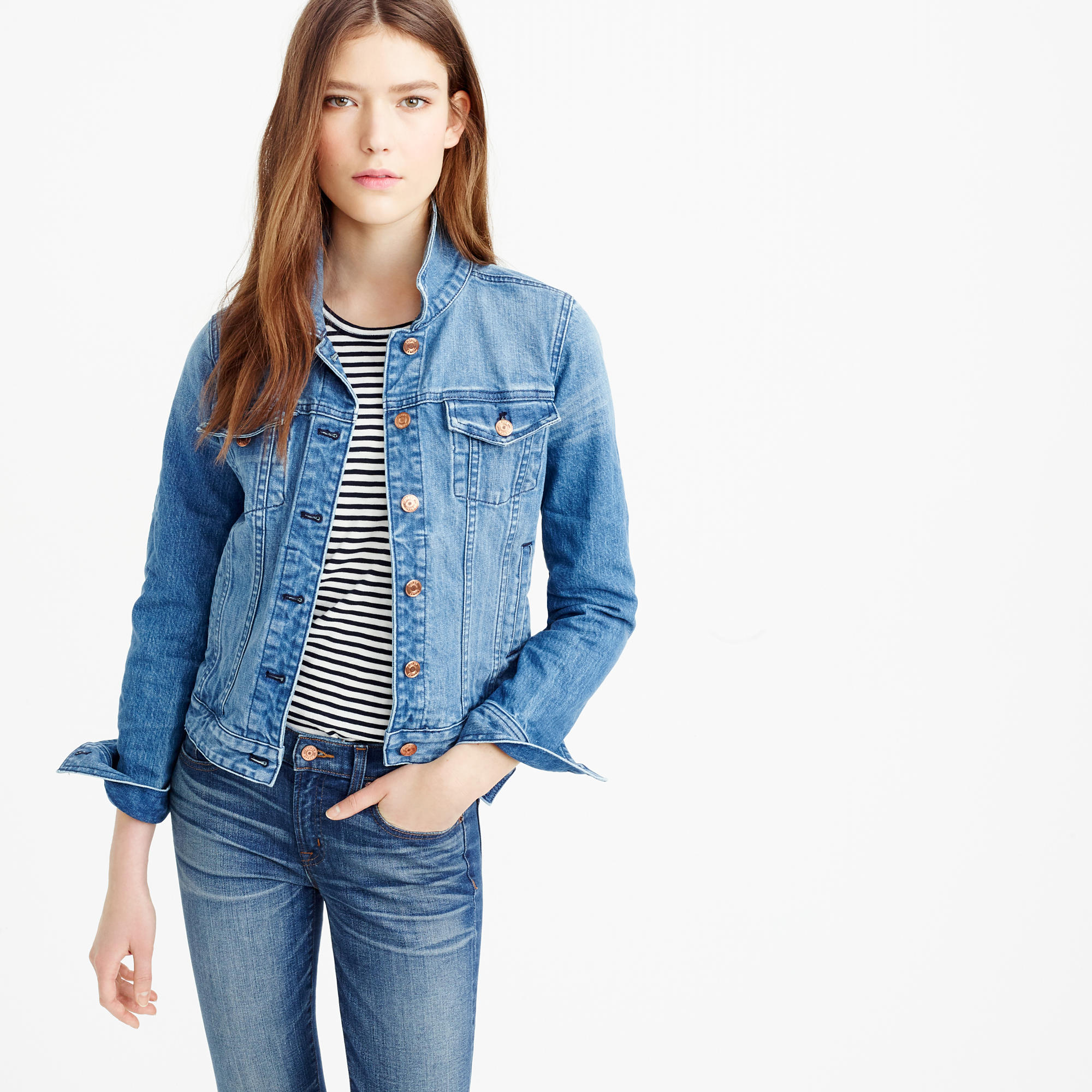Premium stretch denim jacket : Women denim | J.Crew