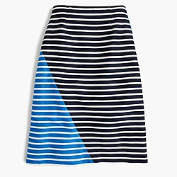 Colorblock striped skirt