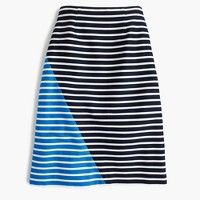 Petite colorblock striped skirt