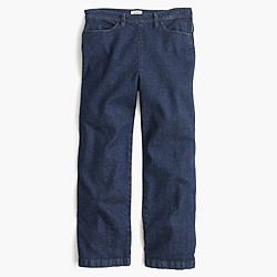 Petite side-zip Rayner jean in Norwood wash