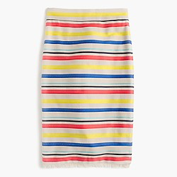 Petite colorful jacquard striped skirt