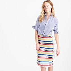 Colorful jacquard striped skirt