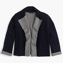 Reversible sweater-jacket