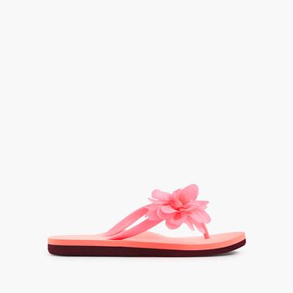 Girls' budding colorblock flip-flops