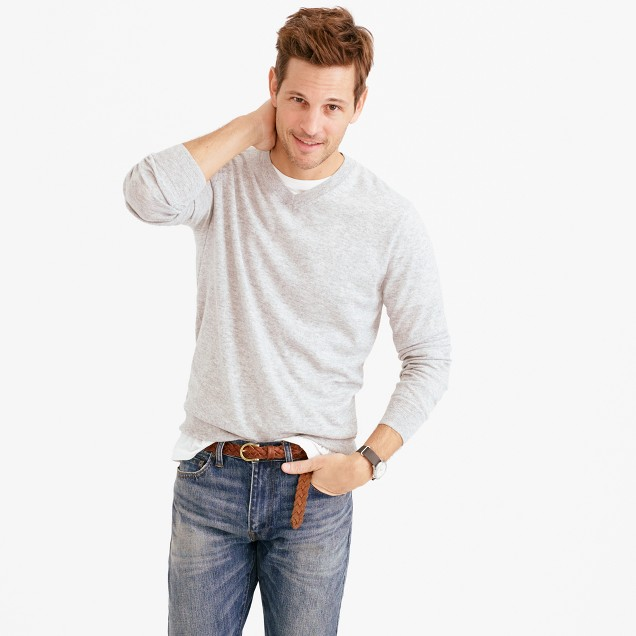 Lightweight Italian cashmere V-neck sweater