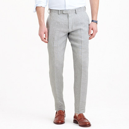 Bowery slim pant in Irish linen twill