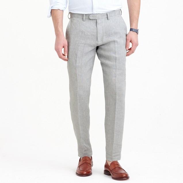 Bowery slim pant in Irish linen twill