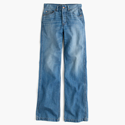 Point Sur high-rise flare jean in Quentin wash