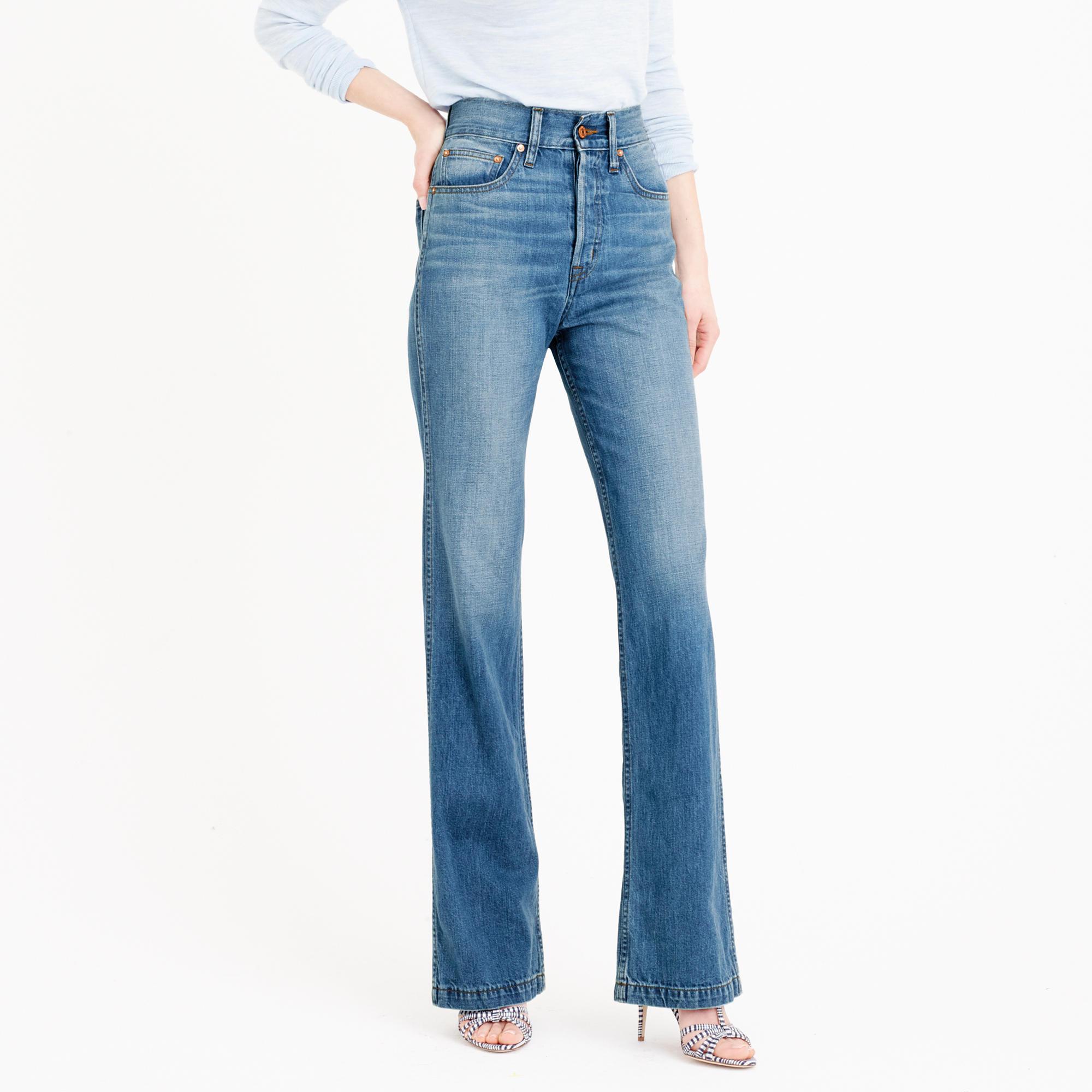 Point Sur high-rise flare jean in Quentin wash : Women Point Sur ...