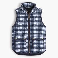 Excursion vest in gingham