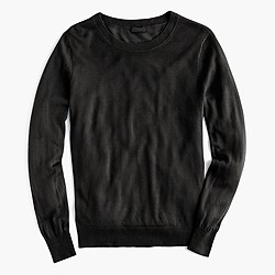 Italian featherweight cashmere boyfriend crewneck sweater